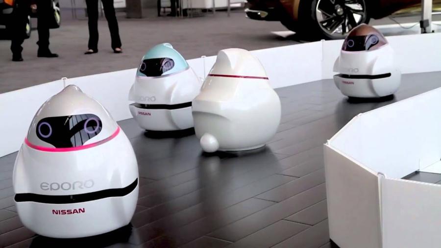 Robot de Nissan emula vehículos autónomos