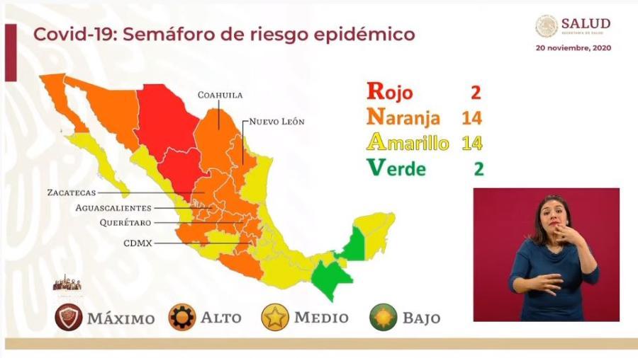Chiapas y Campeche pasan a semáforo verde epidémico