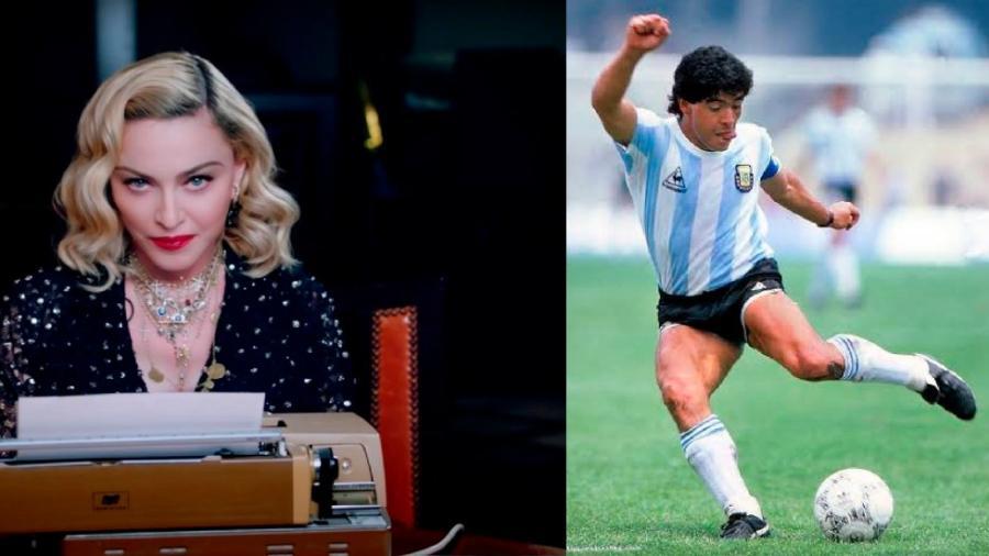 Madonna se hace tendencia por la muerte de Maradona