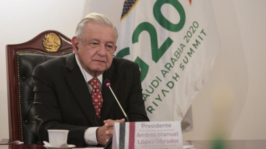 Participa AMLO en cumbre virtual del G-20