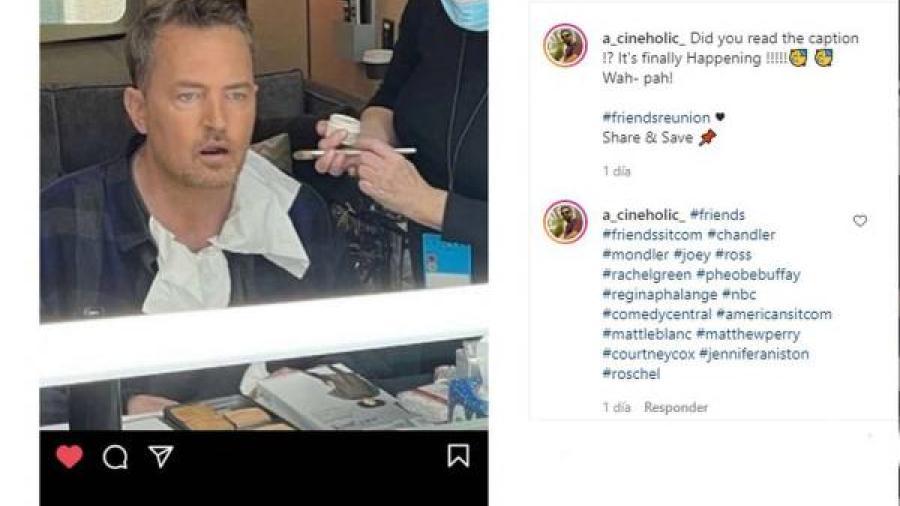 Matthew Perry borra la foto con el elenco de Friends